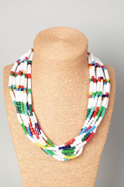 LOUIS FERAUD  Collier multi rangs de perles...