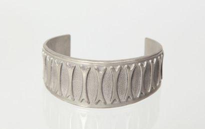 PEWTER/JENSEN  Bracelet rigide ouvert en...