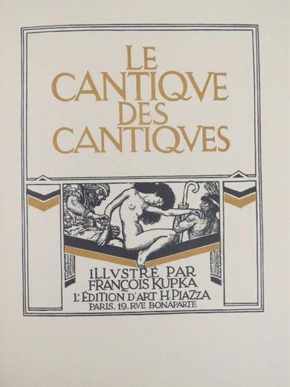 [KUPKA]. LE CANTIQUE DES CANTIQUES. Paris,...