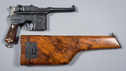 Exceptionnel pistolet Mauser C96 type Bolo....