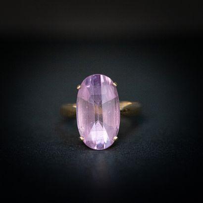 Bague cocktail pierre violette , monture...