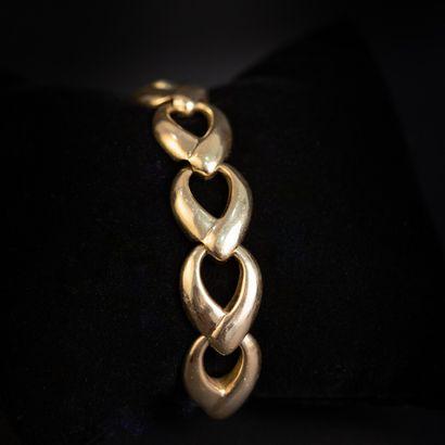 Bracelet en or maille fantaisie  Poids: 70.2...