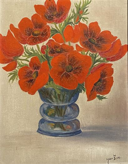 Jean EVE (1900-1968)  Coquelicots  Huile...