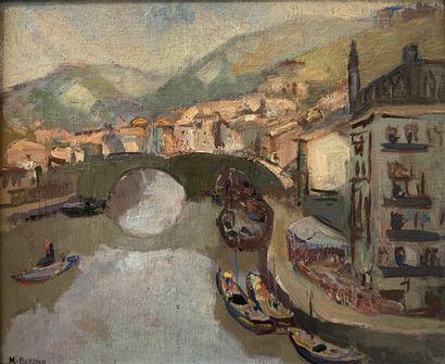 Marcel BERTOIN (1897-1983)  Le Tage à Tolède...