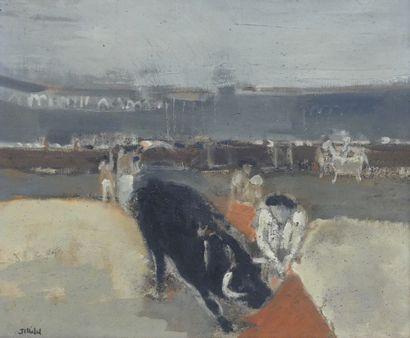 Jean-Claude CHEDAL (1939)  Corrida  Huile...