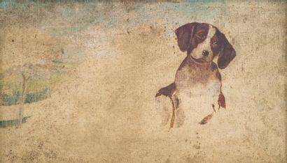 ECOLE FRANCAISE, début XXe  Etude de chien...