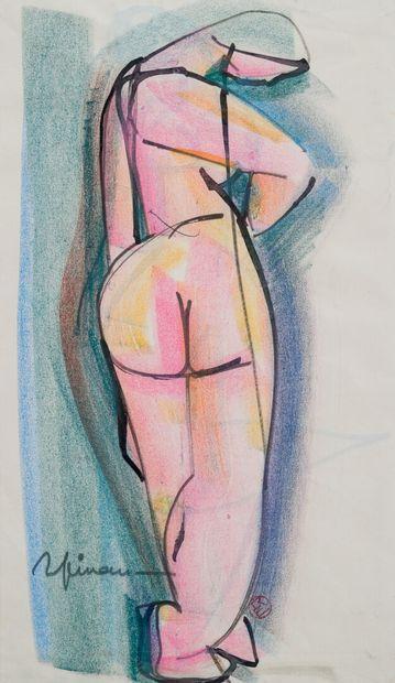 Raymond ESPINASSE (1897-1985)  Nu de dos...