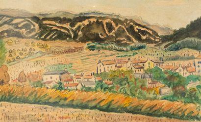 Elisée MACLET  (1881-1962)  Paysage provençal...