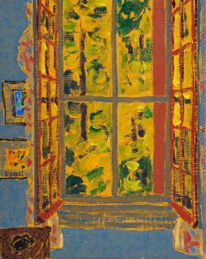 Vincent BIOULES (1938)  Fenêtre  Huile sur...