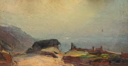 Abbé Pierre CALES (1870-1961)  Jour de brume...