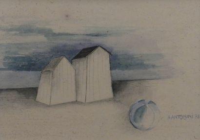 Annapia ANTONINI (1942)  Cabanes de plage...