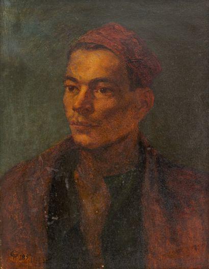Frederick GOODALL (1822-1904)  Portrait orientaliste...