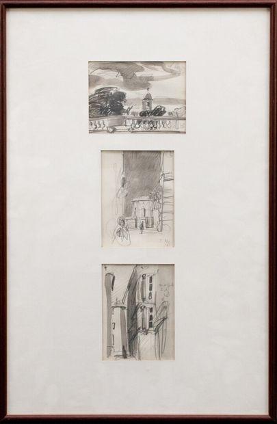 Vincent BIOULES (1938)  Trois vues du Pérou...