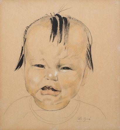 Alix AYMÉ (1894-1989)  Portrait d'enfant...
