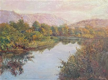 Francesco FILIPPINI (1853-1895)  Le lac et...
