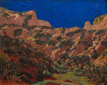 André DELACROIX (1878-1934)  Les hauteurs...