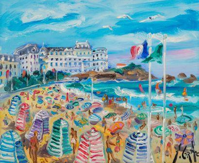 Yvon GRAC (1945)  Biarritz  Huile sur toile...