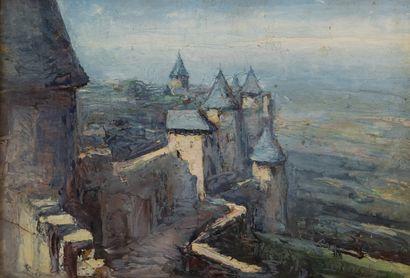 Abbé Pierre CALES (1870-1961)  Carcassonne,...