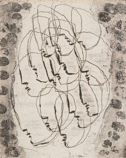 Jean FAUTRIER (1898-1964)  Les Massacrés,...
