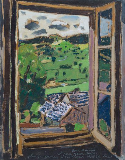 Vincent BIOULES (1938)  Fenetre sur la campagne...