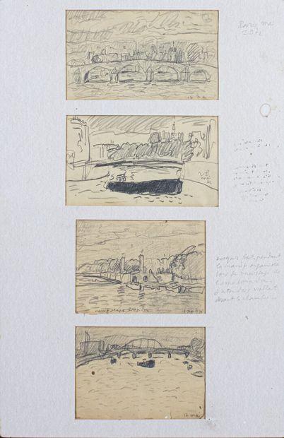 Vincent BIOULES (1938)  Quatre vues de la...