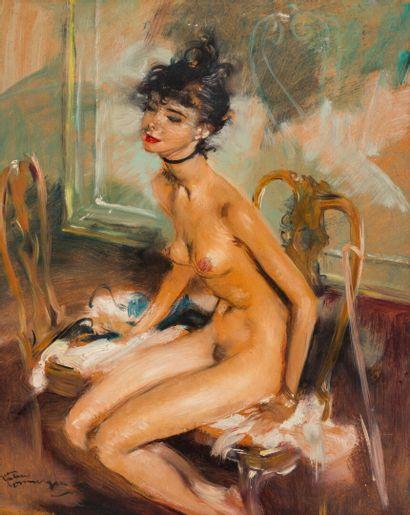 Jean-Gabriel DOMERGUE (1889 - 1962)  Femme...