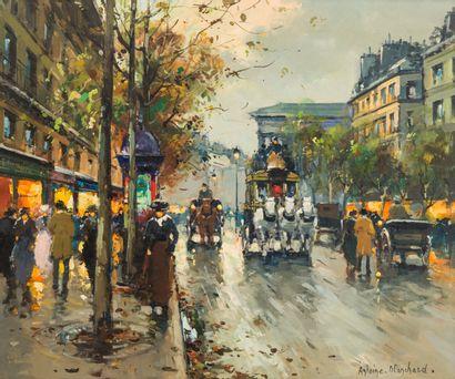 Antoine BLANCHARD (1910-1988)  Rue de Paris...