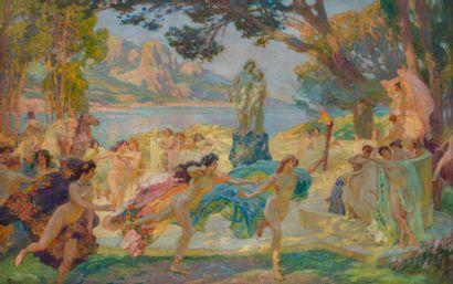 Paul Jean GERVAIS (1859-1944)  Bacchanale...