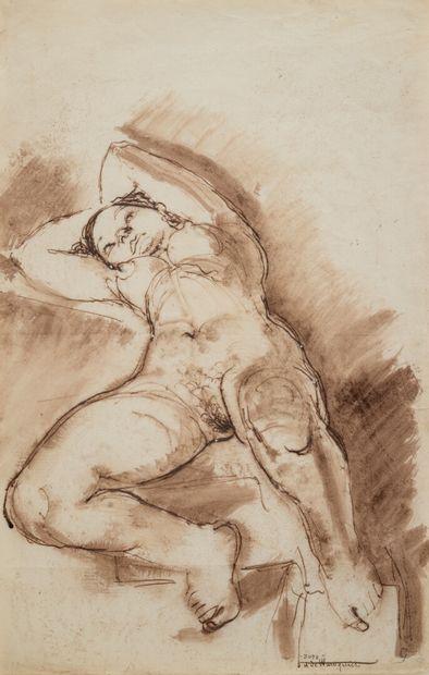 Henry DE WAROQUIER (1881-1970)  Femme nue...