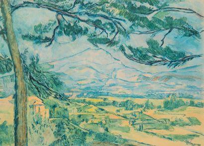 d'après Paul CEZANNE - Jacques VILLON (1875-1963)...