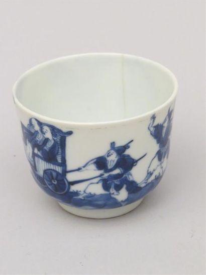 Sorbet en porcelaine bleu blanc Marque Shou....