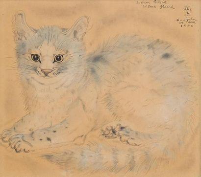 Tsuguharu Léonard FOUJITA (1886 - 1968) Portrait...