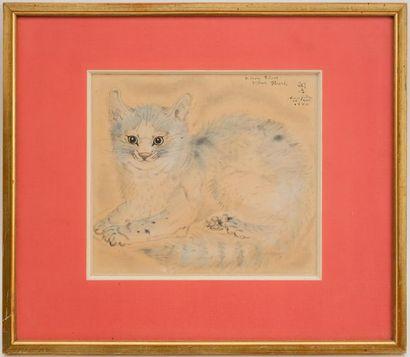 Tsuguharu Léonard FOUJITA (1886 - 1968) Portrait de chat, 1940 Dessin à l'encre,...