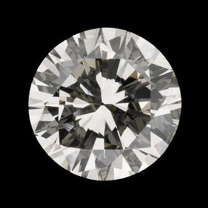 Bague solitaire diamant taille brillant 14,44 carats, couleur N-R, pureté VVS2,...