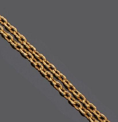 Collier sautoir en or jaune 18 k (750 millièmes)....