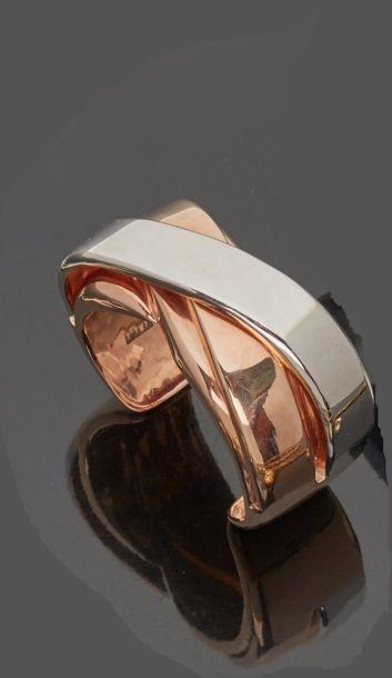 DALIA  Large bracelet rigide en argent et...