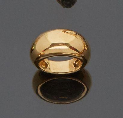 Bague jonc en or jaune 18 k (750 millièmes)....