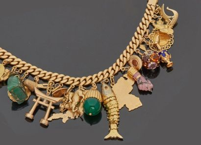 Bracelet gourmette en or jaune 18 k (750...