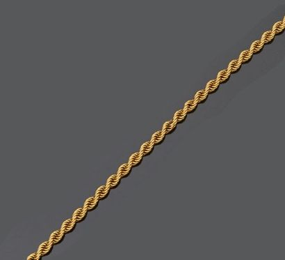 Collier en or jaune 18 k (750 millièmes)...