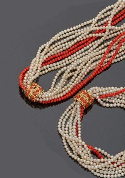 Parure comprenant un collier et un bracelet...