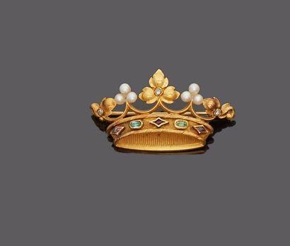 Broche en or jaune 18 k (750 millièmes) en...