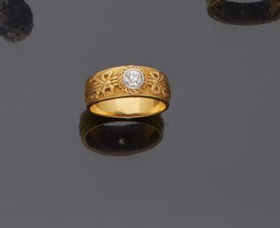 Bague anneau d'homme en or jaune 18 k (750...