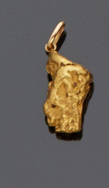 Pendentif en or jaune 18 k (750 millièmes)...