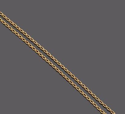 Chaine en or jaune 18 k (750 millièmes)....