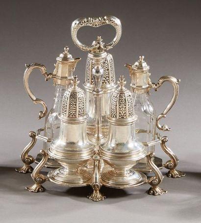 LONDRES 1740 - 1741  Nécessaire à condiments...