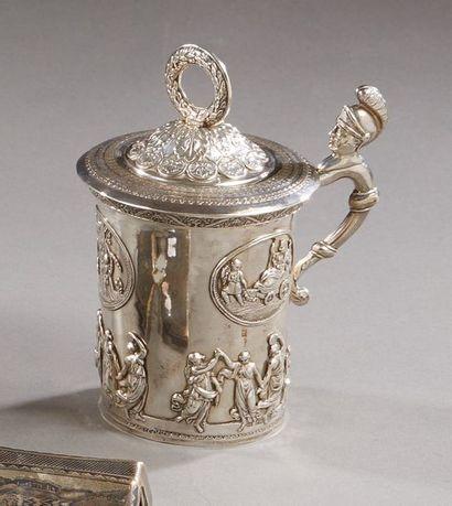 Chope couverte en argent 84 zolotniks (875...