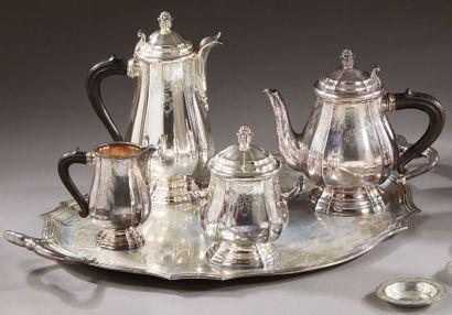 CHRISTOFLE  Service à thé et café en argent...