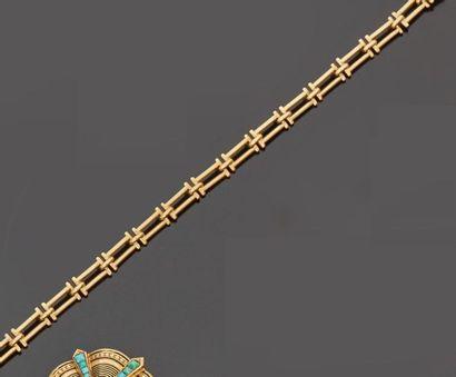 Bracelet en or jaune 18 k (750 millièmes)...