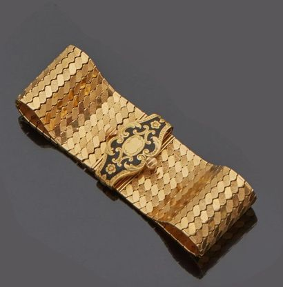 Bracelet souple en or jaune 18 k (750 millièmes)...