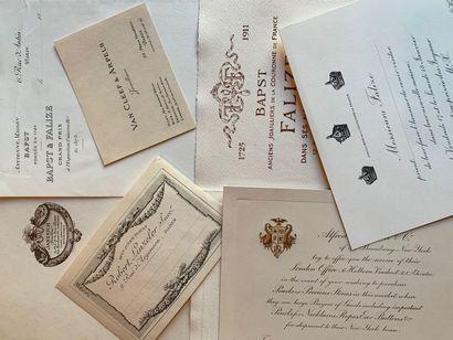 Cartes de visite, invitations et papiers...